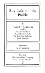 Cover of: Boy life on the prairie