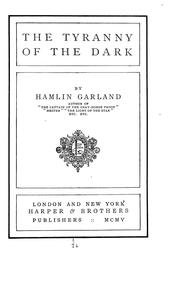 Cover of: The tyranny of the dark