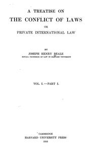Cover of: treatise on the conflict of laws | Beale, Joseph Henry