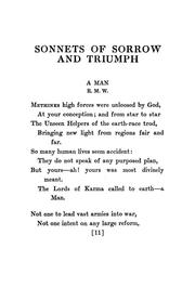 Cover of: Sonnets of sorrow and triumph