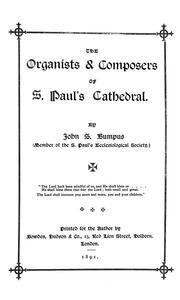 Cover of: The organists & composers of S. Paul