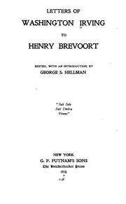 Cover of: The letters of Washington Irving to Henry Brevoort
