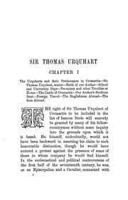 Cover of: Sir Thomas Urquhart of Cromartie, knight. | Willcock, John