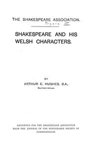 Cover of: Shakespeare and his Welsh characters