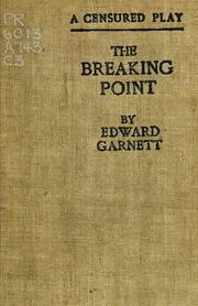 Cover of: The Breaking Point | Edward Garnett
