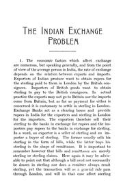 Cover of: Indian exchange problem | Frank Victor Rushforth