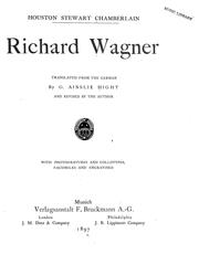 Richard Wagner by Houston Stewart Chamberlain