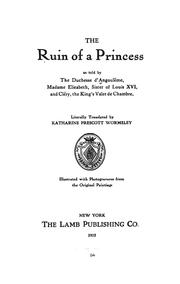 Cover of: The ruin of a princess