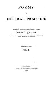 Cover of: Forms of federal practice