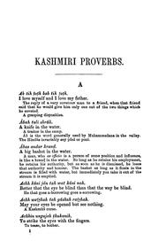 Cover of: dictionary of Kashmiri proverbs & sayings | James Hinton Knowles
