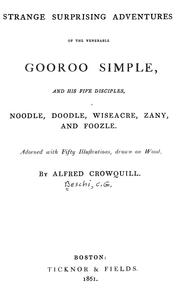Cover of: Strange surprising adventures of the venerable Gooroo Simple