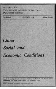 Cover of: China, social and economic conditions