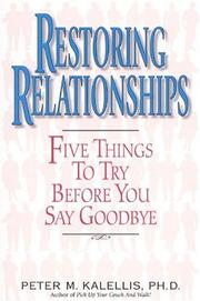Cover of: Restoring Relationships