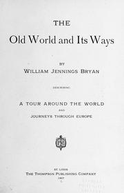 Cover of: The old world and its ways