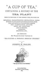 "Cover of: ""A cup of tea"""