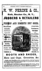 Cover of: Gazetteer and business directory of Steuben County, N.Y., for 1868-9