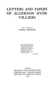 Cover of: Letters and papers of Algernon Hyde Villiers, with a memoir Harry Graham