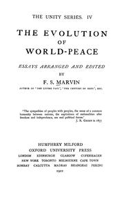 Cover of: The evolution of world-peace |