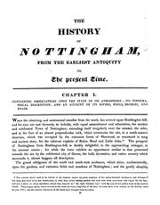 Cover of: The history of Nottingham, embracing its antiquities, trade, and manufactures, from the earliest authentic records, to the present period by John Blackner