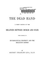 Cover of: The dead hand