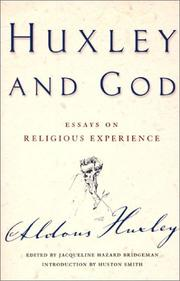 Cover of: Huxley and God | Aldous Huxley