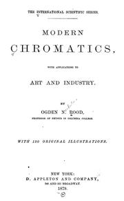 Cover of: Modern chromatics | Ogden N. Rood
