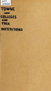Cover of: Colleges and free institutions