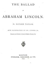 Cover of: The  ballad of Abraham Lincoln