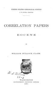 Cover of: Correlation papers