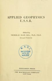 Cover of: Applied geophysics. U. S. S. R. by Edited by Nicholas Rast.