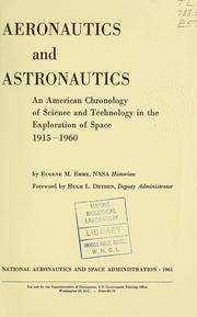 Cover of: Aeronautics and astronautics | United States. National Aeronautics and Space Administration.