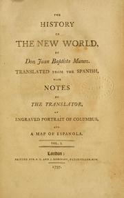 Cover of: history of the New World | Juan Bautista MuГ±oz