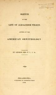 Cover of: Sketch of the life of Alexander Wilson