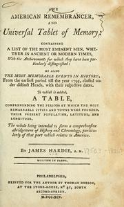 Cover of: The American remembrancer, and universal tablet of memory