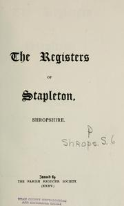 registers of Stapleton, Shropshire