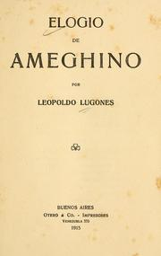 Cover of: Elogio de Ameghino
