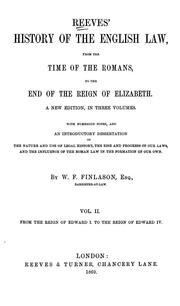 Cover of: History of the English law