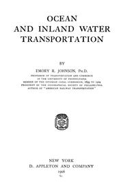 Cover of: Ocean and inland water transportation