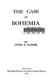 Cover of: The case of Bohemia
