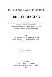 Cover of: Principles and practice of butter-making | George Lewis McKay