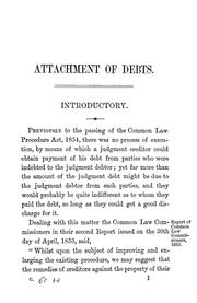 Cover of: Attachment of debts | Michael CababeМЃ
