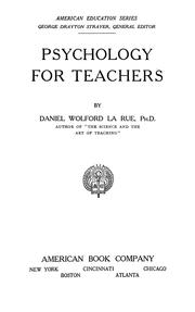 Cover of: Psychology for teachers