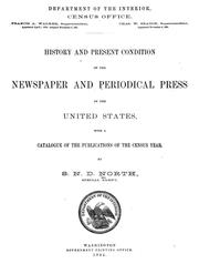Cover of: History and present condition of the newspaper and periodical press of the United States