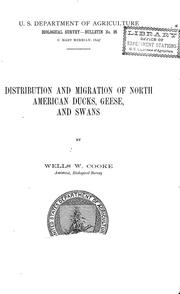 Cover of: Distribution and migration of North American ducks, geese, and swans