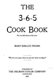 Cover of: The 3-6-5 cook book