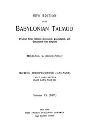 Cover of: New edition of the Babylonian Talmud |