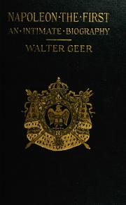 Cover of: Napoleon the First | Walter Geer