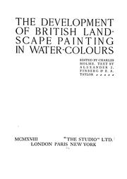 Cover of: The development of British landscape painting in water colours