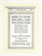 Cover of: Book of home building and decoration