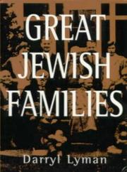 Cover of: Great Jewish families